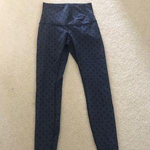 Lulu lemon polka dot leggings navy color